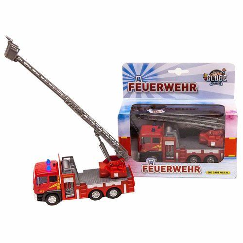 Feuerwehrauto mit Drehkran | Feuerwehr | mit Licht Sound & Rückzug