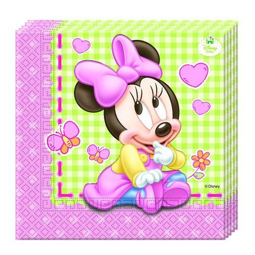 Servietten Minni Baby | 20 Stück | Minnie Maus | Kinder Geburtstag