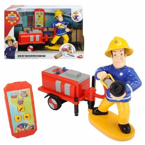 Sam mit Wasserspritzfunktion | Feuerwehrmann Sam | Simba | infrarotgesteuert – Bild 1