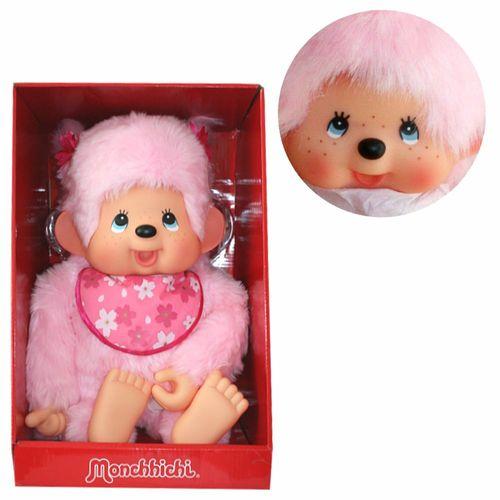 Kirschblüten-Mädchen | 80 cm | Monchhichi Puppe | Mädchen | Pink | rosa Fell – Bild 1