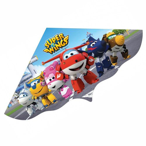 Flugdrache Team | 120 x 60 cm | Super Wings | Kinder Drachenflieger