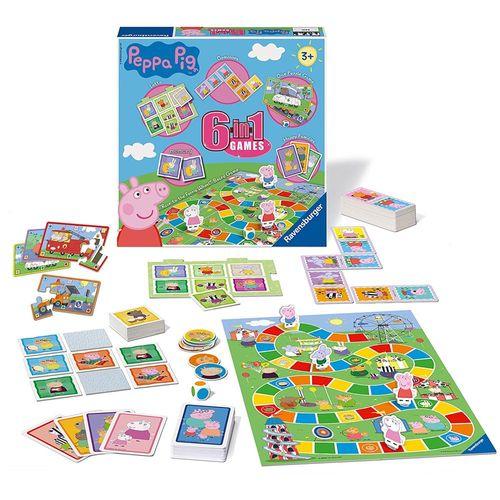 Spiele Box | 6 in 1 | Peppa Wutz | Peppa Pig | Ravensburger | Spielesammlung – Bild 2