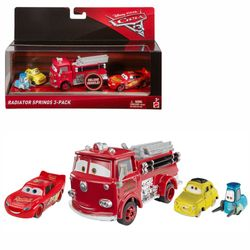 Lightning, Red, Luigi & Guido | Disney Cars | Set Die Cast 1:55 | Mattel FNV13
