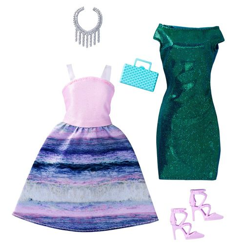 Mermaid Mode | 2 Garderoben Set Petite | Barbie Mattel FCT97 | Puppen-Kleidung – Bild 1