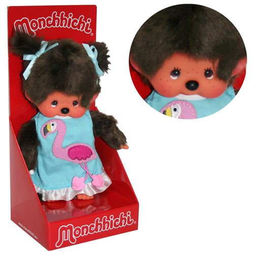 Flamingo Girl | 20 cm | Monchhichi Puppe | Mädchen | Fashion Dress – Bild 1
