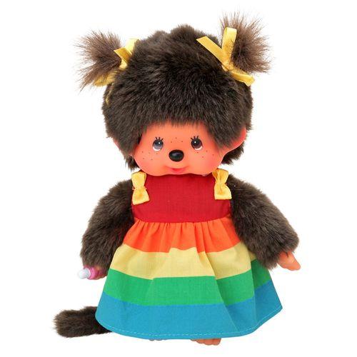Regenbogen Kleid | 20 cm | Monchhichi Puppe | Mädchen | Fashion Dress – Bild 2
