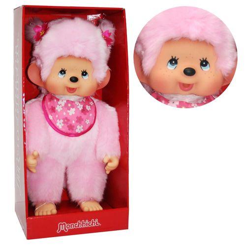 Kirschblüten-Mädchen | 45 cm | Monchhichi Puppe | Mädchen | Pink | rosa Fell – Bild 1