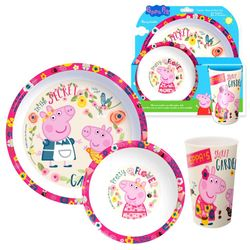 Geschirr-Frühstück-Set | Peppa Wutz | Peppa Pig | Teller, Schüssel und Becher 001
