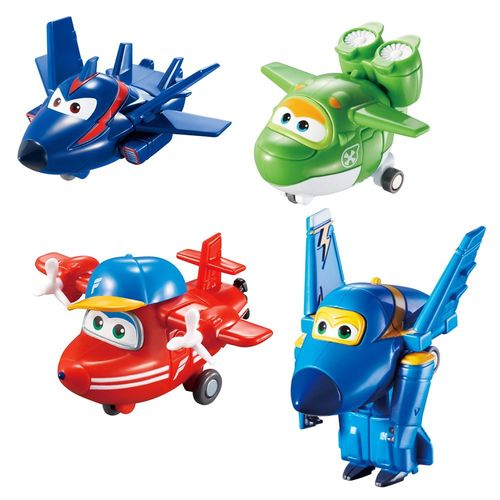 Flugzeuge Agent Chace, Flip, Jerome & Mira | Super Wings | Set Mini Transform – Bild 2