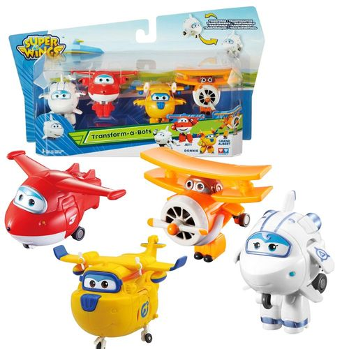 Flugzeuge Astra, Jett, Donnie & Grand Albert | Super Wings | Set Mini Transform