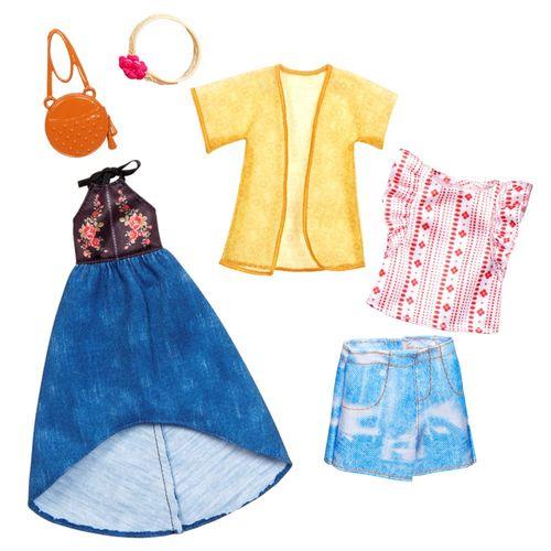 Urban Boho | 2 Garderoben Set | Barbie | Mattel FKT40 | Puppen-Kleidung – Bild 1