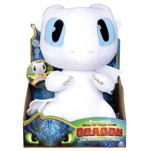 Tagschatten Drache | Plüsch Figur interaktiv | DreamWorks Dragons | Lightfury – Bild 1