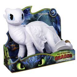 Tagschatten Drache | DreamWorks Dragons | 36 cm Deluxe Plüsch Figur | Lightfury
