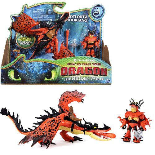 Drache Hakenzahn & Rotzbakke | Spiel Set | DreamWorks Dragons | Hookfang – Bild 1