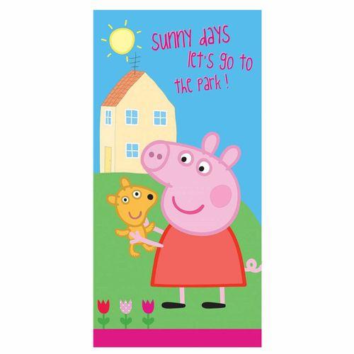 Handtuch | 70 x 140 cm | Peppa Wutz | Peppa Pig | Kinder Strandtuch