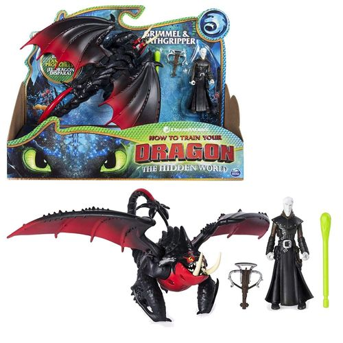 Drache Todesgreifer & Grimmel | DreamWorks Dragons | Action Spiel Set – Bild 1