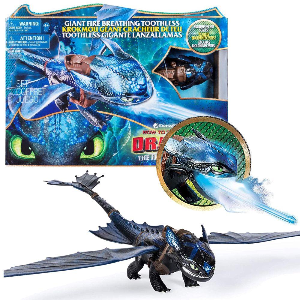 Feuerspuckender Action Ohnezahn Drachen Atem Toothless Dreamworks Dragons