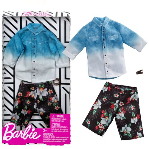 Set Hawaii Style | Ken Trend Mode | Barbie | Mattel FXJ36 | Puppen-Kleidung