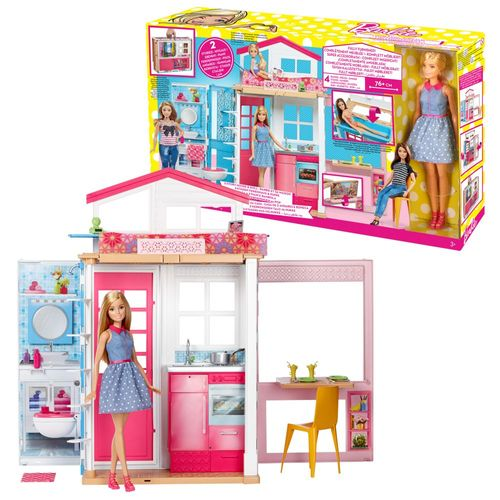 2 Etagen Ferienhaus | Barbie | Mattel DVV48 | Haus mit Puppe, Möbel & Zubehör – Bild 1