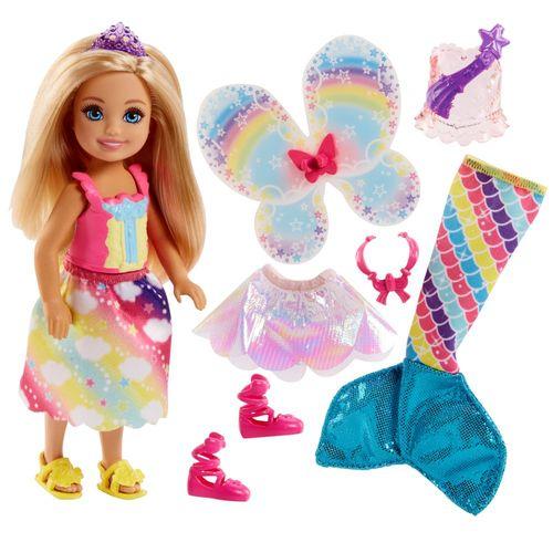 Dreamtopia 3-in-1 Fantasie | Chelsea Puppe | Mattel FJD00 | Barbie Schwester