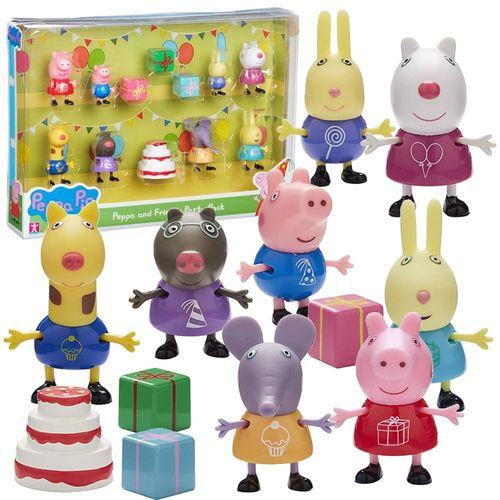 Party Pack | Spiel Figuren Set | Peppa Wutz | Peppa Pig | 12-teilig