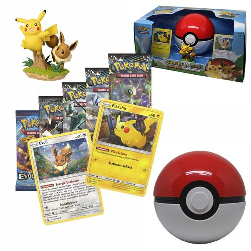 Pikachu & Evoli | Pokeball Kollektion | Pokemon | Sammelkarten-Spiel – Bild 1