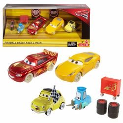 Fireball Beach Racer 4er Pack | Disney Cars | Set Die Cast 1:55 | Mattel FCL78