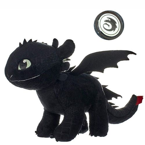 Ohnezahn Toothless | Glow in the Dark | Plüsch Figur 32 cm | DreamWorks Dragons