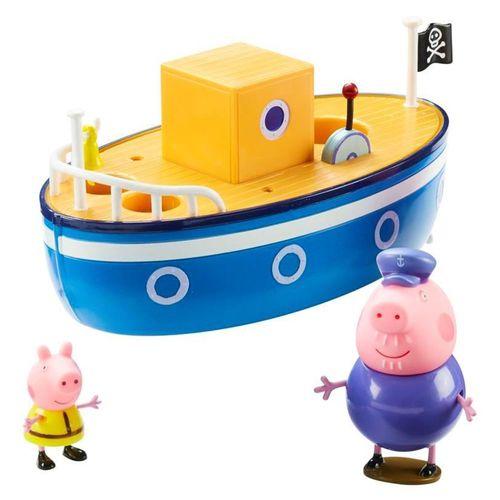 Badespaß Boot | Spielset | Peppa Wutz | Peppa Pig | mit Figur Peppa & Opa Wutz – Bild 2