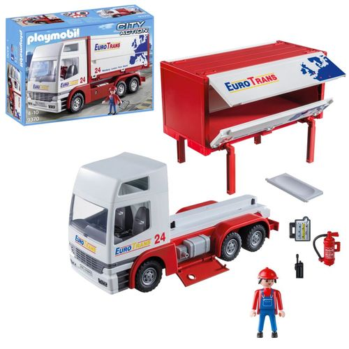 Transport-LKW Euro Trans 24 | City Action | Playmobil Spielset 9370 – Bild 1