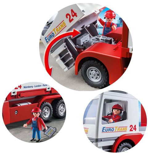 Transport-LKW Euro Trans 24 | City Action | Playmobil Spielset 9370 – Bild 2