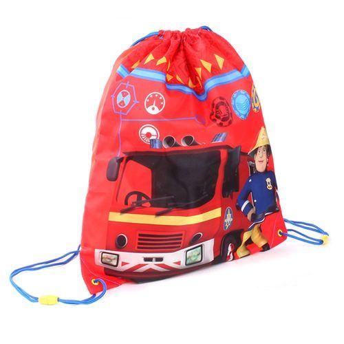 Sportbeutel rot | 42 x 35 cm | Feuerwehrmann Sam | Turnbeutel Schule