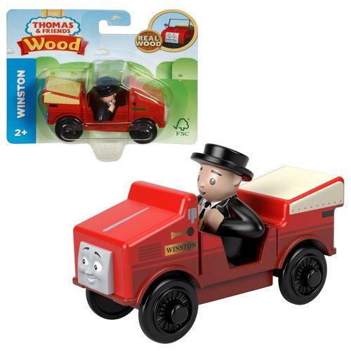 Winston mit Kontrolleur | Mattel GGG36 | Holzeisenbahn | Thomas & seine Freunde