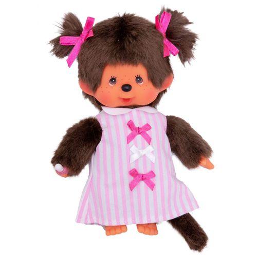 Mädchen im Schleifen-Kleid | 20 cm | Monchhichi Puppe | Fashion Dress – Bild 2