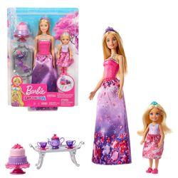 Tee Party Spielset | Barbie Puppe mit Chelsea | Mattel FPL88 | Dreamtopia