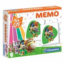 Memo Spiel kompakt | 48 Bildkarten | 44 Cats | Kinder Legespiel | Clementoni