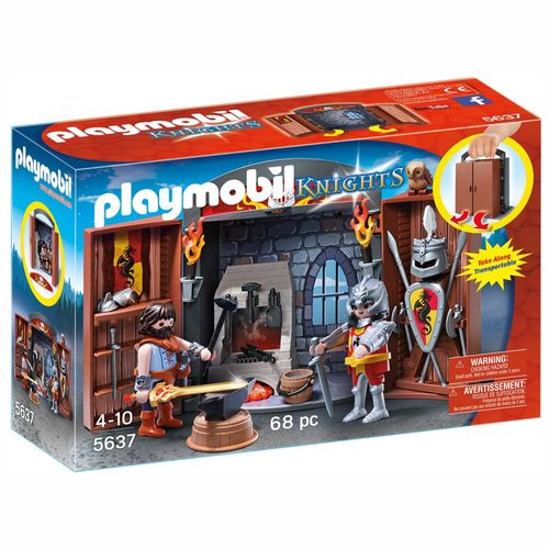 Ritterschmiede | Playmobil Knights | Spielset 5637 | aufklappbare Spielbox – Bild 1