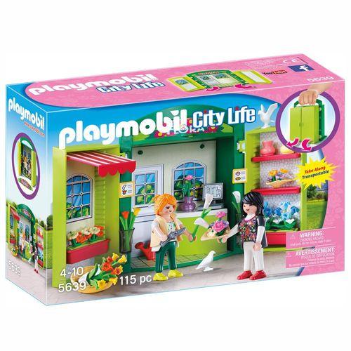 Blumenladen | Playmobil City Life | Spielset 5639 | aufklappbare Spielbox – Bild 1