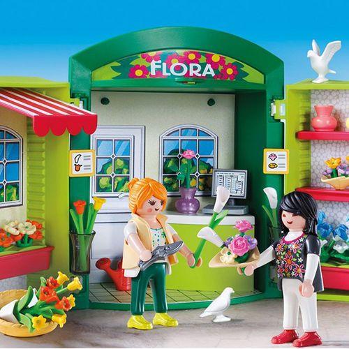 Blumenladen | Playmobil City Life | Spielset 5639 | aufklappbare Spielbox – Bild 2