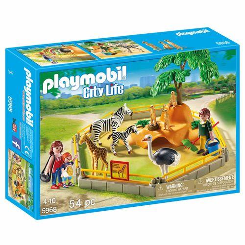 Wildtiergehege im Zoo | Playmobil City Life | Spielset 5968 | 54 Teile – Bild 1