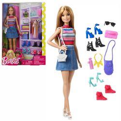 Modepuppe blond mit Accessoires | Barbie | Mattel FVJ42 | Puppe 001
