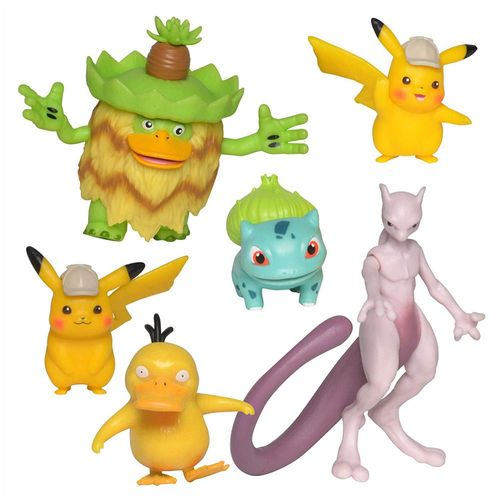 Multi Pack | 6 Action-Figuren im Set | Pokemon | Meisterdetektiv Pikachu – Bild 1