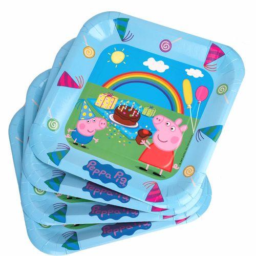 Party-Teller | 23 cm | 6 Stück | Peppa Wutz | Peppa Pig | Kinder Geburtstag