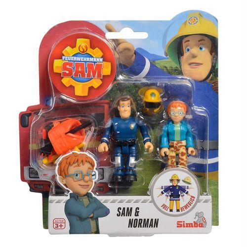 Norman & Sam | Feuerwehrmann Sam | Spiel Figuren Set | Simba Toys