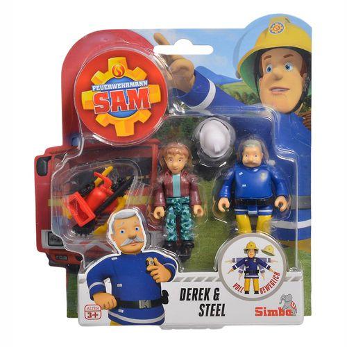 Derek & Steele | Feuerwehrmann Sam | Spiel Figuren Set | Simba Toys