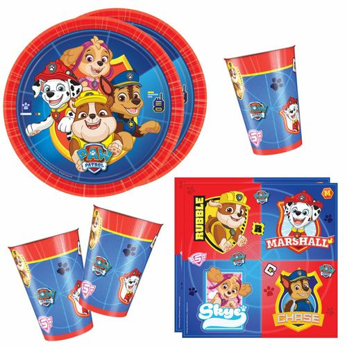 Set Party | Einweg-Geschirr | Paw Patrol | Teller Becher Servietten