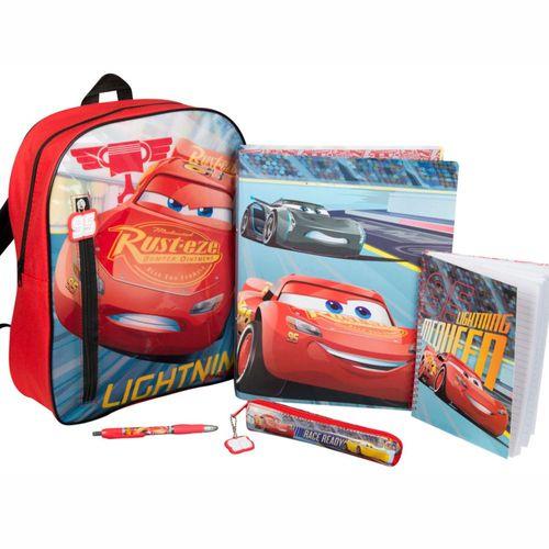Rucksack | Disney Cars | 37 x 29 x 10 cm | gefüllte Tasche mit Schul-Zubehör – Bild 1