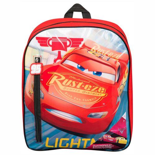 Rucksack | Disney Cars | 37 x 29 x 10 cm | gefüllte Tasche mit Schul-Zubehör – Bild 2