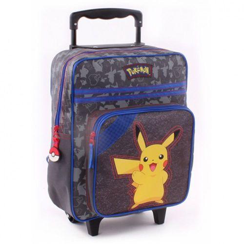 Trolley Rucksack für Kinder | Pokemon | 35 x 28 x 15 cm | Pika Pika | grau – Bild 1