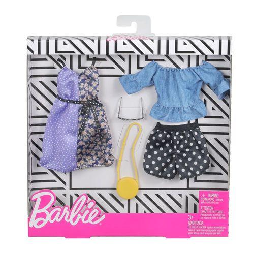 Pünktchen Mode | 2 Garderoben Set | Barbie | Mattel FXJ68 | Puppen-Kleidung – Bild 2